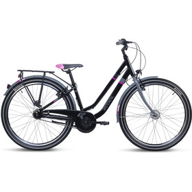 s'cool chiX twin alloy 26 7-S Kinder black/pink